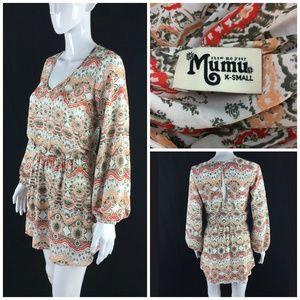 Show Me Your Mumu Sz XS Medallion Print Dress